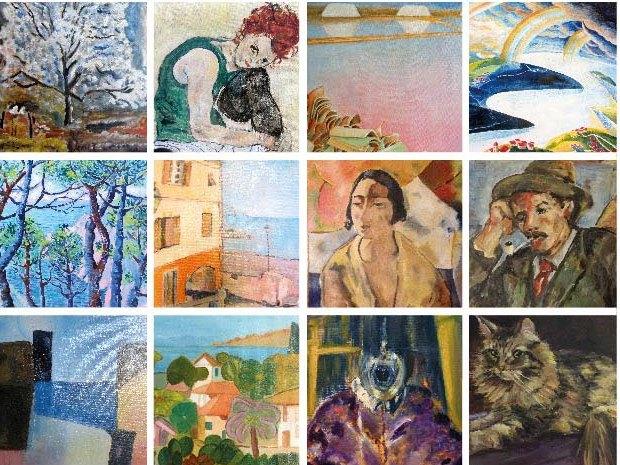 collage di opere esposte