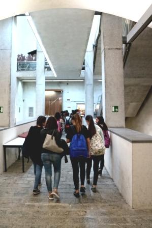 immagine di studenti al Galata