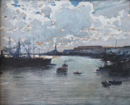Aurelio Craffonara, Il Porto di Genova, 1919
