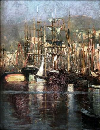 Angelo Costa, Barche nel Porto, ca 1890