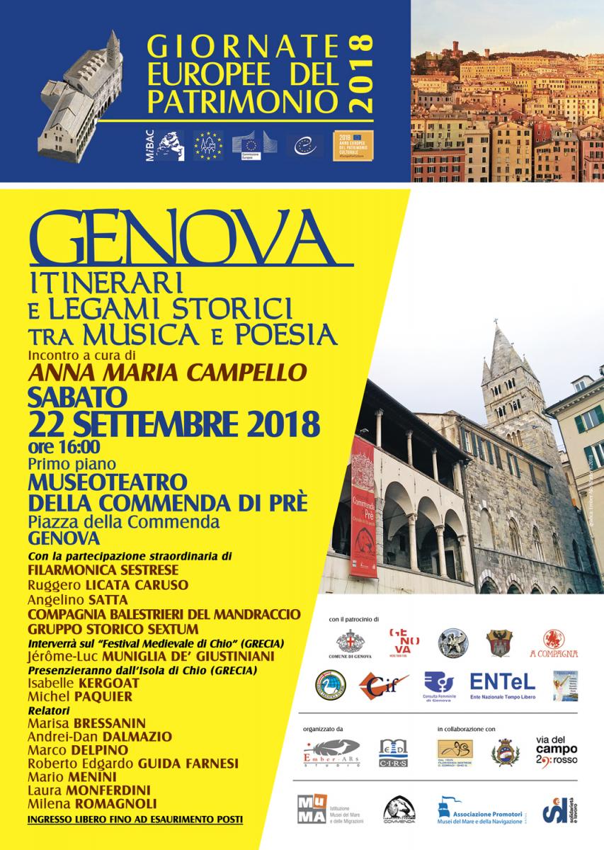 Giornata Europea del Patrimonio dedicata Genova a Commenda