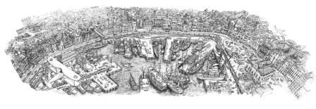 opera di Migliarini - Il porto di genova