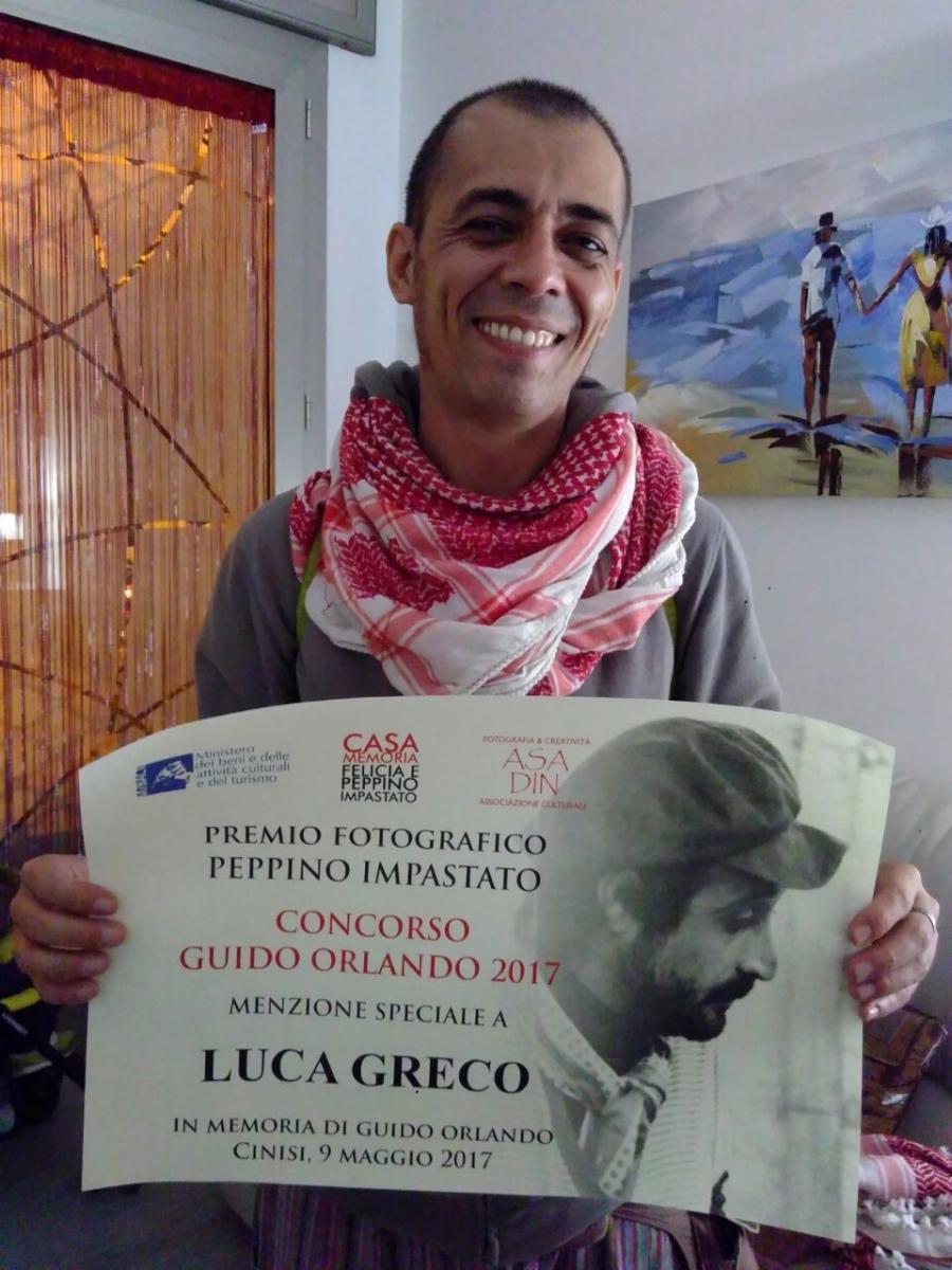 Luca Greco autore della mostra