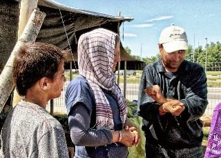 foto del campo profughi di Idomeni in Grecia
