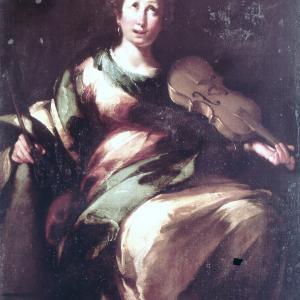Santa Cecilia con una viola da gamba