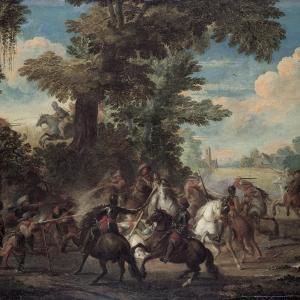 Combattimento tra archibugieri e cavalleria