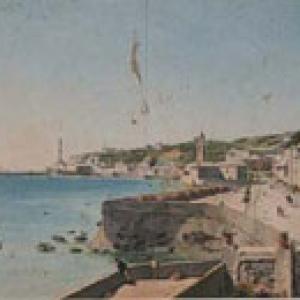 Veduta del porto verso la Lanterna con i bastioni e la Chiesa di San Teodoro