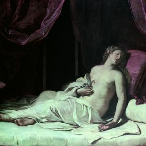"""Guercino """"Cleopatra morente"""""""