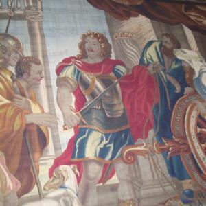 Arazzo con le storie di Alessandro Magno, dettaglio 1