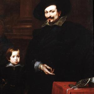 Ritratto del gioielliere Pucci con il figlio