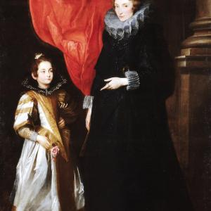 Ritratto di Geronima Sale-Brignole con la figlia Maria Aurelia