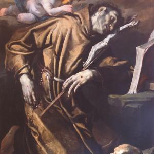 San Francesco in estasi confortato dall'angelo musico