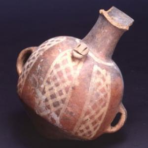 Arybalo con motivi geometrici dipinti, XV-XVI sec. d.C. (Inca)