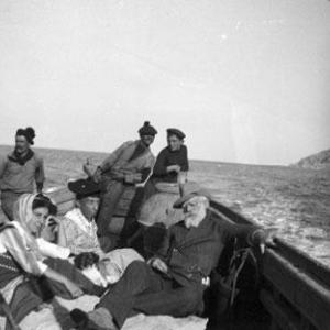 Capitano con Laura Doria e sua figlia Orietta - Isola del Giglio