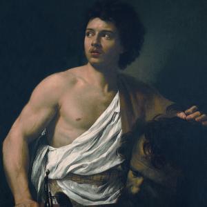 """Simon Vouet """"David con la testa di Golia"""""""