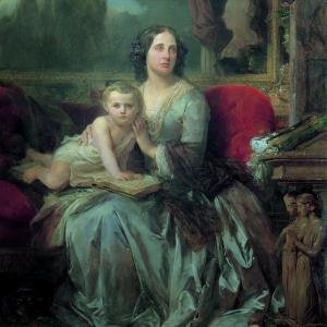 Maria Brignole-Sale De Ferrari, Duchessa di Galliera con il figlio Filippo