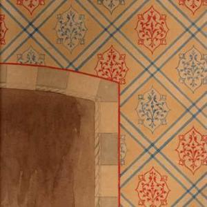 Prospetto parete decorata