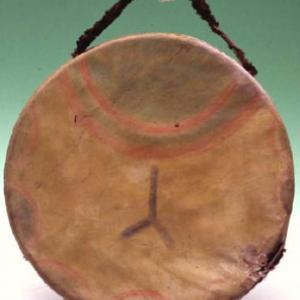 Tamburo cerimoniale, 1870 – 1880 circa, (Dakota dell'Est)