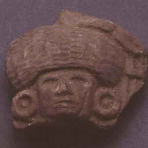 Testina antropomorfa, VII secolo d.C. (Teotihuacán IV), Messico