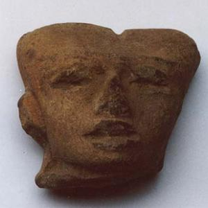 Testina antropomorfa, II - VII secolo d.C. (Teotihuacán II - III), Messico