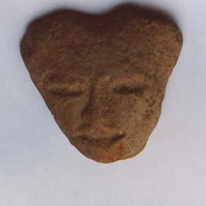 Testina antropomorfa, II - VI secolo d.C. (Teotihuacán II - III), Messico