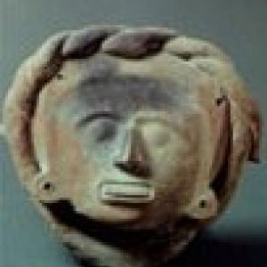 Testina antropomorfa (frammento) (Aztechi/ Mixtechi), Messico