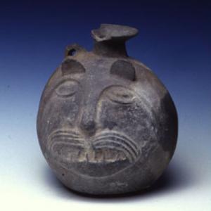 Vaso-bottiglia a forma di testa di felino