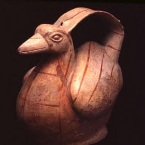 Vaso fischiatore, VII – X sec. d.C. (Lambayeque)