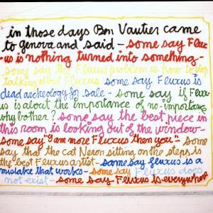 """Ben Vautier """"Fluxus cannot save the world"""", 2002"""
