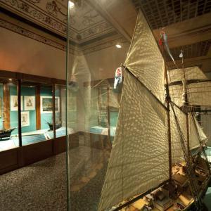 Museo Navale di Pegli -  sala con i velieri