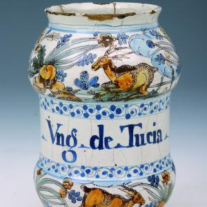 Maioliche liguri vaso