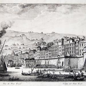 Veduta del Ponte Reale, Spinola e Calvi