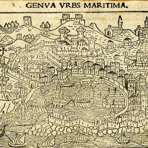 Veduta di Genova presa dal mare