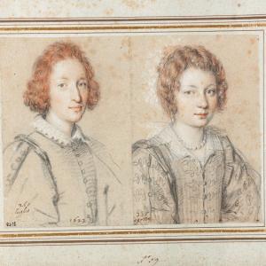 Ritratto di un uomo e ritratto di una donna