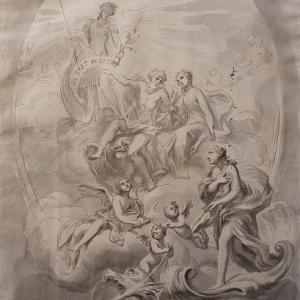 Galatea accolta da Giove in Olimpo