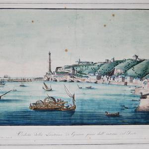 Veduta del porto verso la Lanterna, dai pressi di S. Teodoro