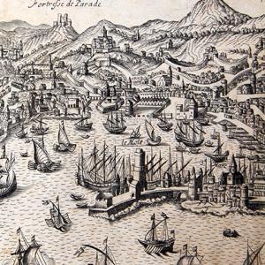 Veduta di Genova dal mare, particolare