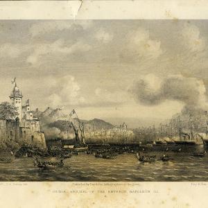 Arrivo dell'Imperatore Napoleone III a Genova