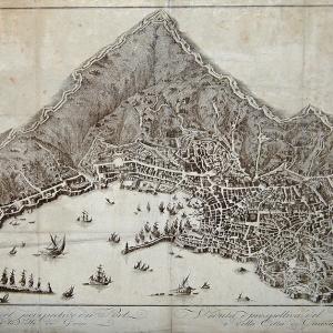 Veduta di Genova, compresa nel perimetro della Mura Nuove