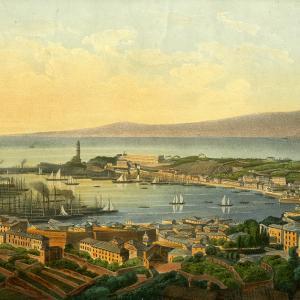 Veduta del porto di Genova