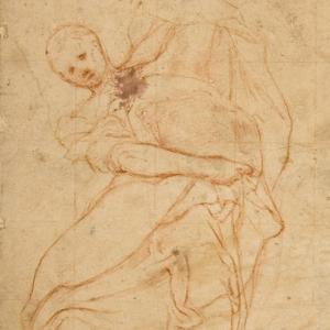Apostolo (disegno per il tamburo della cupola del Duomo di Parma)
