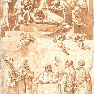 """Studio per la pala di Santa Maria della Pietà detta la """"Pala dei Mendicanti"""""""