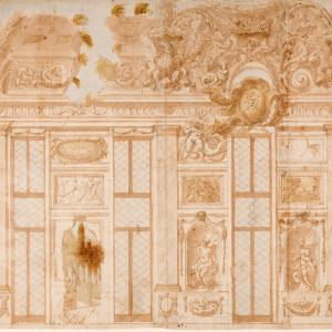 Decorazione di sala con finte rovine