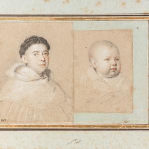 Ritratto di un monaco e ritratto di un bimbo