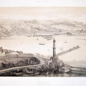 Veduta di Genova dall'alto, verso Levante