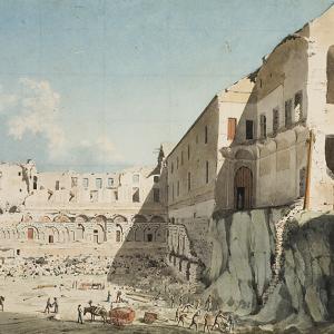 Il cantiere di demolizione della chiesa e del cantiere di San Domenico