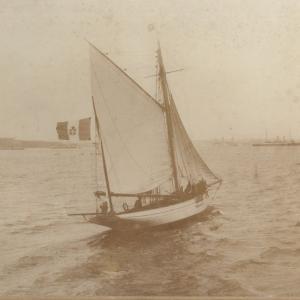 Lo yacht Corsaro, Kiel, 1905