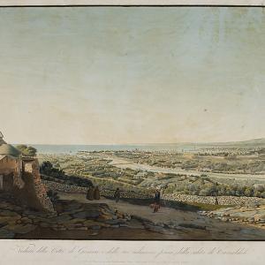 Veduta della città di Genova e delle sue adiacenze presa dalla salita di Camaldoli