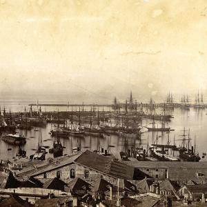 Il Porto di Genova nel 1865