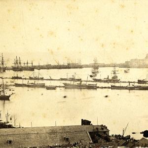 Porto di Genova nel 1865
